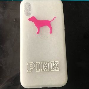 iPhone X pink by Victoria's Secret case NWT